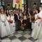 Foto di gruppo in Sala Marmi con le spose di San Giovanni