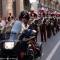 La fanfara dei carabinieri in via Roma