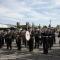 La banda della Polizia Municipale suona davanti al Duomo