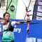 L\'atleta indiana scocca il tiro