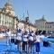 Le atlete azzurre festeggiano il trionfo