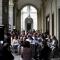 La conferenza stampa sotti i portici di piazza Palazzo di Città