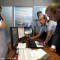 Al Sindaco e all\'Assessore Giuliana Tedesco vengono illustrate le funzionalità della centrale operativa