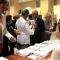 Foyer Auditorium Giovanni Agnelli: distribuzione dei programmi di sala