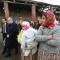 Andrea Riccardi, Ministro alla Cooperazione internazionale e l'integrazione, fa visita al campo rom