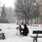 Piazza Statuto, pupazzo di neve