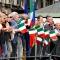 Tricolori in piazza Castello