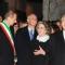 Piero Fassino, Walter Barberis, Mario Monti insieme alla moglie Elsa