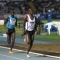 L\'arrivo dei 5000 mt, il vincitore Meli Ezekiel e Ayeko Thomas