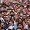 Sguardi preoccupati tra il pubblico di Italia Uruguay