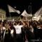 I festeggiamenti in piazza Castello