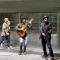 La performance alla stazione Metro Porta Nuova