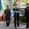 Il Generale Cravarezza con i reduci Valentino Pizzoglio e Armando Scatolini