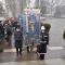 I Gonfaloni schierati di fronte al Cimitero Monumentale