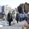 Un momento della commemorazione al Cimitero Monumentale