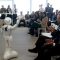 Pepper, il robot-guida dell'Innovation Center di Intesa Sanpaolo, introduce la conferenza stampa