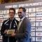 L'Assessore Roberto Finardi premia Davide Favro, Argento salto in lungo Europei Atletica Leggera under 18
