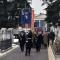 Il Gonfalone della Città apre il corteo al Cimitero Monumentale