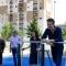 Un momento dell'inaugurazione del Parco Pietro Mennea