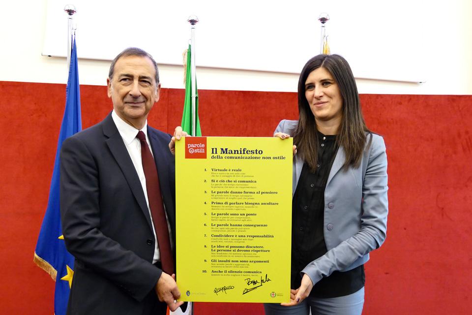 Torino e Milano insieme per #StileComune. I sindaci Chiara Appendino e Giuseppe Sala firmano il Manifesto della Comunicazione non ostile