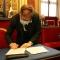 Bertrand Audoin firma il protocollo internazionale della dichiarazione di Parigi