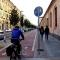 La pista ciclabile che lungo via Nizza, collega Porta Nuova a Piazza Carducci