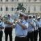 La Banda Musicale del Corpo di Polizia Municipale suona in piazza Castello